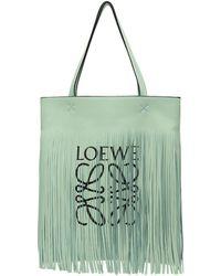 Loewe - Green Paulas Ibiza Edition Vertical Fringe Tote - Lyst