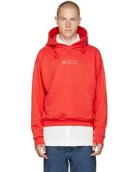 Martine Rose - Red Classic Double Drawstring Logo Hoodie - Lyst