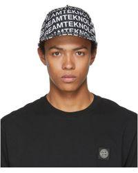 DIESEL - Black C-printe Baseball Cap - Lyst