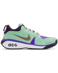 Nike - Green And Purple Dog Mountain Trainers - Lyst
