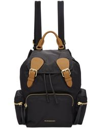 Burberry - Black Medium Nylon Rucksack - Lyst