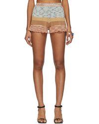 Missoni - Multicolour Knit Linen Shorts - Lyst