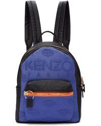 KENZO - Sac a dos bleu et noir Kombo - Lyst