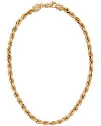 Emanuele Bicocchi - Gold French Rope Necklace - Lyst