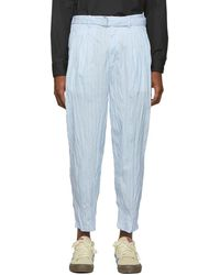 3.1 Phillip Lim - Blue Relaxed Pleated Trousers - Lyst