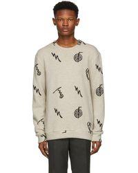 The Elder Statesman - Black Cashmere Intarsia Sweater - Lyst