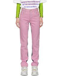 Martine Rose - Pink Tie-dye Jeans - Lyst
