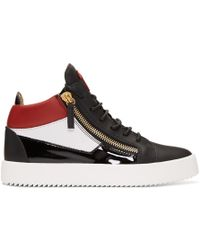Giuseppe Zanotti - Black And Red Kriss Sneakers - Lyst