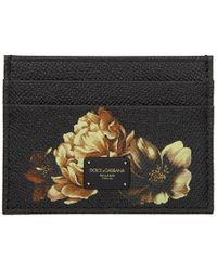Dolce & Gabbana - Black Flower Card Holder - Lyst