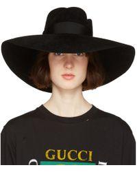 Gucci - Black Anita Fedora - Lyst