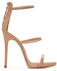Giuseppe Zanotti - Ssense Exclusive Pink Coline 110 Sandals - Lyst