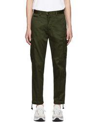 DIESEL - Green P-madox Trousers - Lyst