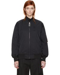 Marc Jacobs - Black Nylon Bomber Jacket - Lyst