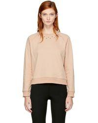 Carven - Pink Studs Sweatshirt - Lyst