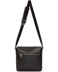 eadc2ac724fb GG Leather Briefcase. $1,650. Saks Fifth Avenue · Gucci - Black Signature  Messenger Bag - Lyst