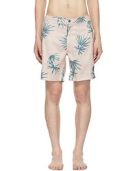 Onia - Pink Palm Tree Calder Swim Shorts - Lyst
