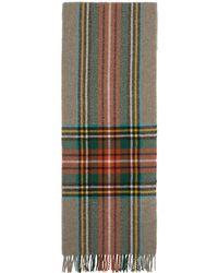 Gucci - Foulard a carreaux en laine multicolore - Lyst