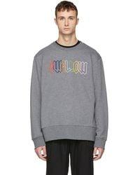 McQ - Grey Embroidered Swallow Sweatshirt - Lyst