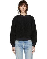 Rag & Bone - Black Teddy Pullover Sweatshirt - Lyst