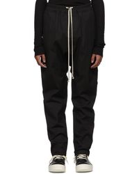 Rick Owens - Black Drawstring Long Trousers - Lyst