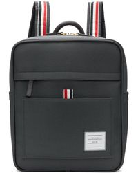 Thom Browne - Grey Zip Top Book Backpack - Lyst