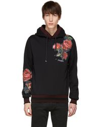 Dolce & Gabbana   Black Patches Hoodie   Lyst