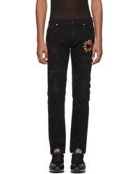 Dolce & Gabbana - Black Skinny Distressed Jeans - Lyst