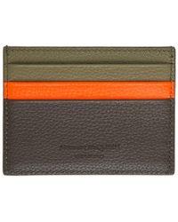 Alexander McQueen - Khaki And Orange Calfskin Card Holder - Lyst