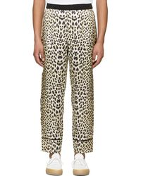 3.1 Phillip Lim - Reversible Navy And Leopard Pj Trousers - Lyst
