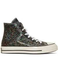 JW Anderson - Black Converse Edition Glitter Chuck 70 High Trainers - Lyst
