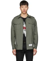 Givenchy - Green Military Over Shirt - Lyst