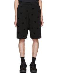 McQ - Black Mini Swallow Dart Shorts - Lyst
