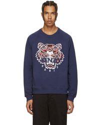 KENZO - Navy Tiger Sweatshirt - Lyst