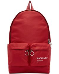 Off-White c/o Virgil Abloh - Red Quote Backpack - Lyst