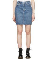 Levi's - Blue Mom Miniskirt - Lyst