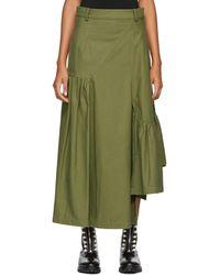 3.1 Phillip Lim - Green Layered Utility Maxi Skirt - Lyst