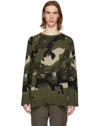 Valentino - Green Camo Sweater - Lyst