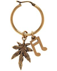 Stella McCartney - Gold Note And Leaf Hoop Earring - Lyst