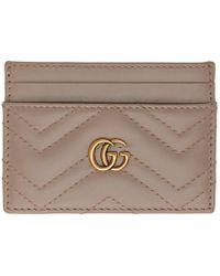 Gucci - トープ GG マーモント 2.0 カード ホルダー - Lyst