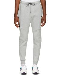 Nike - Grey Tapered Track Trousers - Lyst