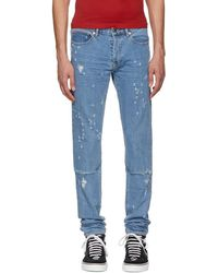 Givenchy - Blue All Over Destroyed Rico Jeans - Lyst