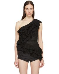 Isabel Marant - Black Zellery Endless Summer One-shoulder Tank Top - Lyst