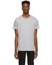 Naked & Famous - Grey Circular Knit T-shirt - Lyst
