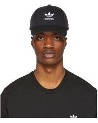 adidas Originals - Black Trefoil Cap - Lyst