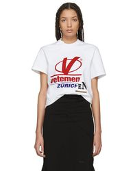 Vetements - White Cut-up Zurich T-shirt - Lyst
