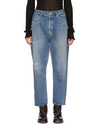 Chimala - Blue Tapered Cut Selvedge Jeans - Lyst