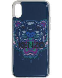 KENZO - Etui pour iPhone X/XS bleu et mauve Tiger - Lyst