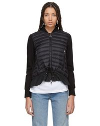 Moncler - Black Jersey Cardigan Jacket - Lyst