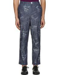 Rochambeau - Blue Chambray Pipe Trousers - Lyst