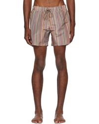 Paul Smith - Multicolor Striped Swim Shorts - Lyst